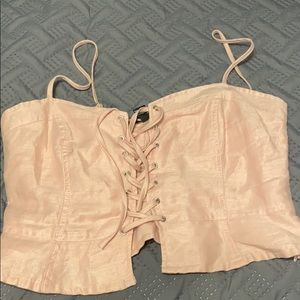 crop top with tie in the front